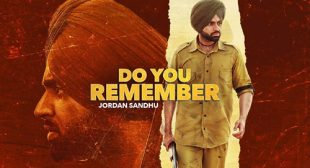 Jordan Sandhu – Do You Remember Lyrics